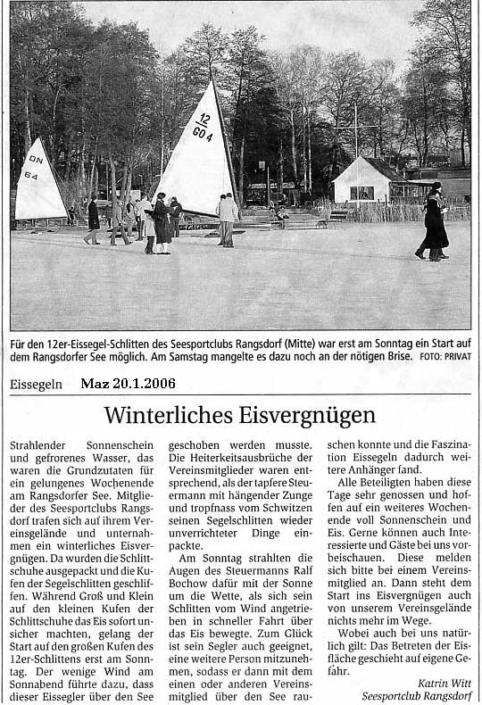 Scan eines Artikels in der Märkischen Allgemeinen Zeitung vom 01.01.2006