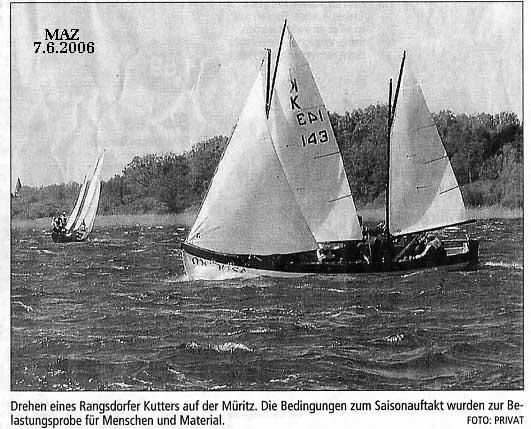 Scan eines Bilds in der Märkischen Allgemeinen Zeitung vom 07.06.2006