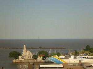 Blick auf die Mündung des Rio del la Plata
